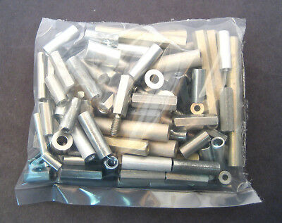 Metal Spacers/Standoffs Assortment Kit: 104 Pieces: Great Value: Retails $80+