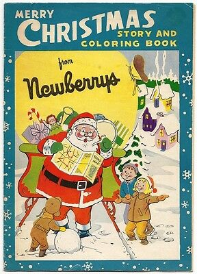 5 pages of TOY Ads in 1960 vintage Newberry's Christmas Story Coloring Book