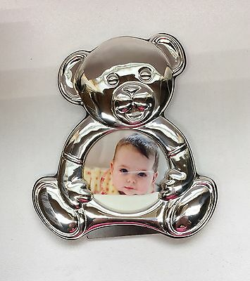 THISTLE & BEE T&B Italy Sterling Silver 925 Teddy Bear Picture Frame ~ NWOT