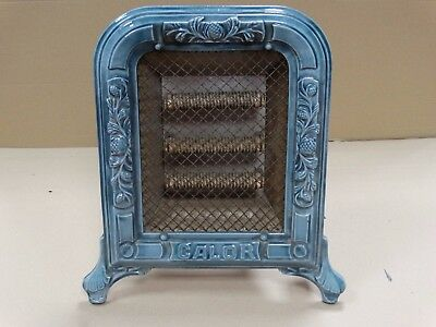 French Antique CALOR Enameled Cast Iron Electric Parlor Heater * circa 1920 *