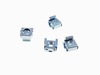 """4 Pack 1/4-20 Self-Retaining Cage Nuts - 3/8"""" Panel Hole Size     BFC7988-1420"""