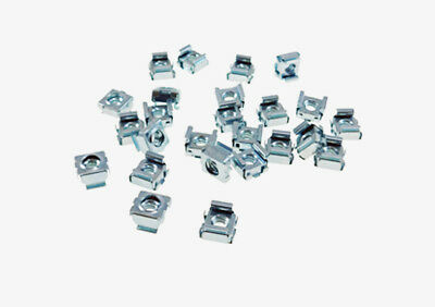 "25 Pack 1/4-20 Self-Retaining Cage Nuts - 3/8"" Panel Hole Size     BFC7988-1420"