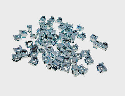 """50 Pack 1/4-20 Self-Retaining Cage Nuts - 3/8"""" Panel Hole Size     BFC7988-1420"""