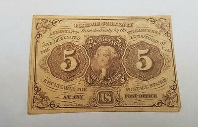1862 5 Cent Postage Fractional Currency!!!!