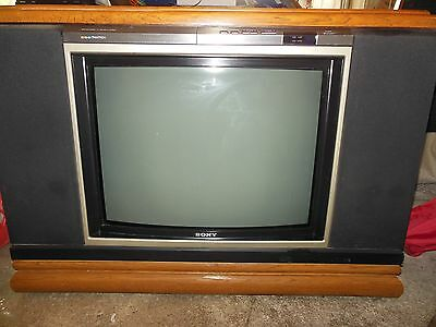vintage sony console tv