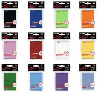 240 120 60 ULTRA PRO: 60 SMALL CARD SLEEVES - DECK PROTECTORS SIZE 62mm x 89mm