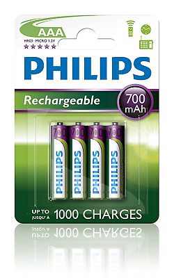 Philips - MultiLife Batterie NiMH AAA 700 mAh 4 Pack - NEUF