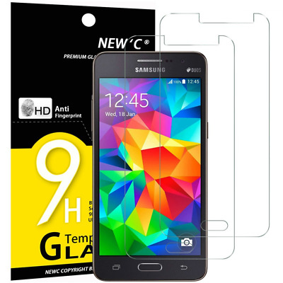 NEWC® - Pack de 2 Film Protection Écran en Verre Trempé pour Galaxy Grand Prime