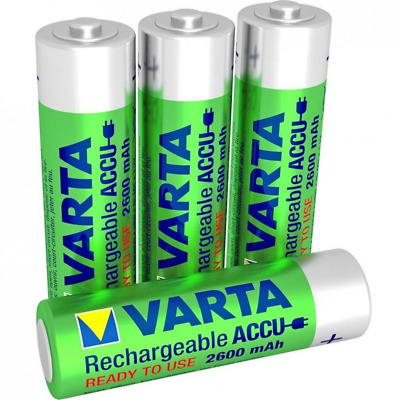 Varta Accu Ready2Use Mignon Batterie Rechargeable AA Ni-Mh (4-Pack, 2600 mAh)