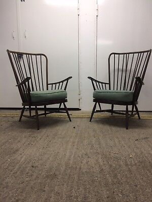 Vintage Ercol Evergreen Armchair In Dark Finish - Sold Separately!