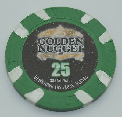 Golden Nugget 25 NCV Casino Chip Las Vegas Nevada H&C Paulson 2008 FREE SHIPPING