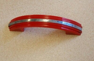 Free shipping Red Art Deco Plastic Cabinet Drawer Pull