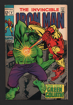 IRON MAN #9 VF Marvel 1969 GREEN GOLIATH New Collection SILVER AGE Classic COMIC