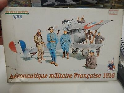 Eduard 1/48 scale plastic kit French Pilots 1916
