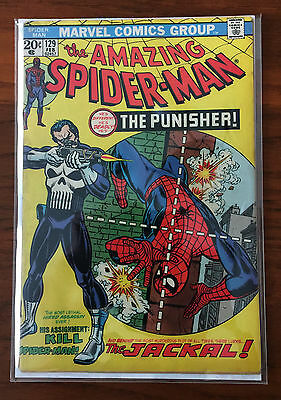 AMAZING SPIDER-MAN #129 FEB 1974 1st APPEARANCE THE PUNISHER