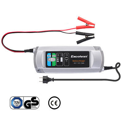 Excelvan Battery Charger/Maintainer 5A Trickle Car RV Motorcycle Mower  6V/12V