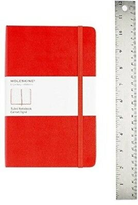 Moleskine Classic Notebook, Large, Ruled, Red, Hardcover (5 x 8.25) [New Book]