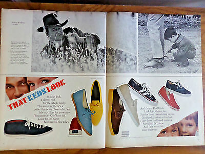 1965 Uniroyal U.S. Rubber Ad   Shoes The Keds Look for the U. S. Blue Label
