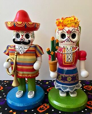 World Market Dia De Los Muertos Day Of The Dead Skeleton Nutcrackers
