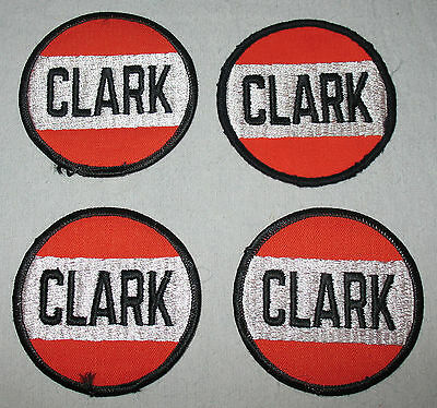 LOT of 4 Clark Gasoline Patches - Vintage - New Old Stock - Original - Gas - Oil