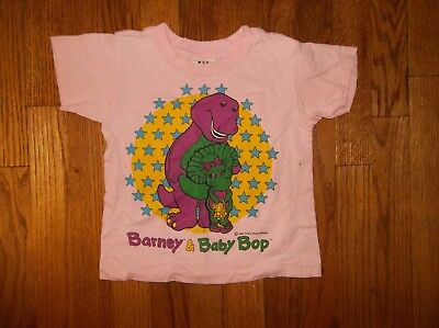 4 4T Girls Barney & Baby Bop Vintage Pink Tee Shirt Top