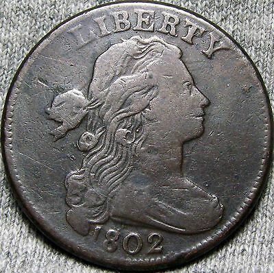 1802 Draped Bust Large Cent --- STUNNING TYPE COIN --- #N433