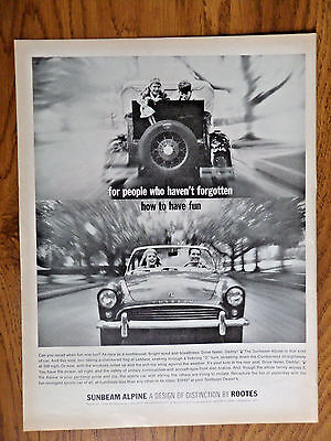1963 Sunbeam Alpine Sports Car by Rootes England Ad