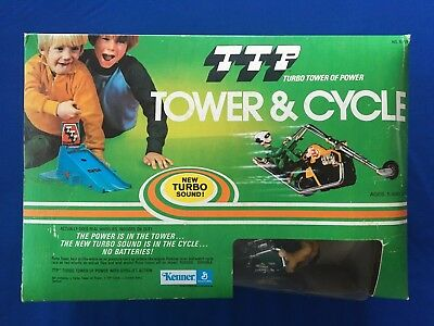 1974 Kenner TTP Turbo Tower of Power Tower & Cycle Brand New Contents NRFB MIB