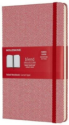Moleskine Limited Edition Blend Collection Notebook, Large, Ruled, Red(5 x 8.25)