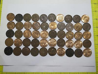 50- Great Britain Uk Gb Half Penny Mixed Date Type Old World Coin Collection Lot