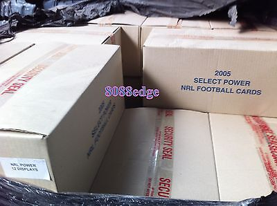 2005 Select Nrl Power Sealed Case(12 Boxes):signatures-Beetson/sonny Bill/slater