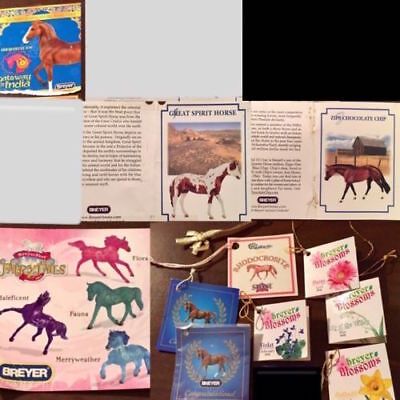 30+ Breyer & Peter Stone Model Horse Hang Tags, Info Cards, Etc 💥CHOOSE 1