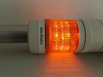 "Allen-Bradley 855T-G24TL5 ""Amber"" Stack Light, 70mm, 24V AC/DC - Working"