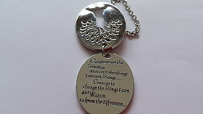 The Serenity Prayer Car House Hanger Or Necklace Inspirational Prayer