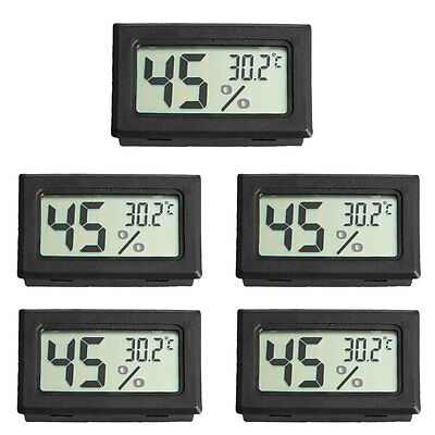 US Mini 5PCS Digital LCD Temperature Humidity Meter Home Thermometer Hygrometer