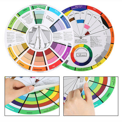 Artists Color Wheel Mixing Guide 23.5cm Diameter Nail Color Embroidery Wheel wd