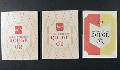 Bibliothèque Rouge et Or 3 mini catalogues de la collection 1956 1957 1958 TBE