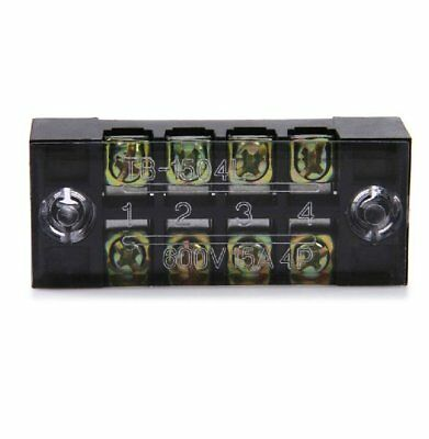 4 Way Position Power Distribution Terminal Block with Cover Up To 15A 600V