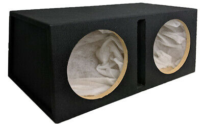 "Double Dual 12"" Car Subwoofer Sealed Enclosure 12In Sub Woofer Speaker Box Car!!"