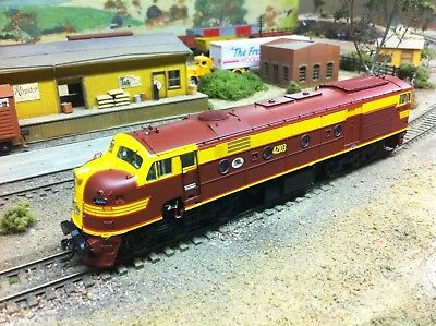Auscision HO scale 42 class loco #42103 Indian Red/ Red lining. Austrains/Traino