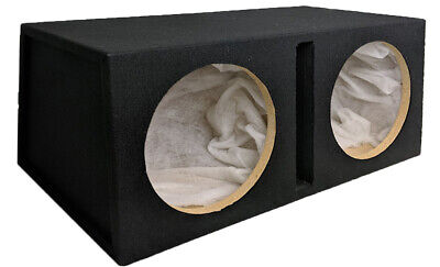 "Double Twin 12"" Car Subwoofer Sealed Enclosure 12In Sub Woofer Speaker Box Car!!"