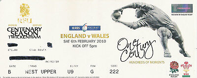 England v Wales 6 Feb 2010 Twickenham RUGBY TICKET