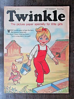 TWINKLE COMIC.  NO.215  MARCH 4th. 1972.  SALLY SWEET OF SUNSHINE STREET.