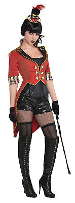 Adult Women Halloween Circus Ringmaster Jacket Freak Show Fancy Dress Accessory
