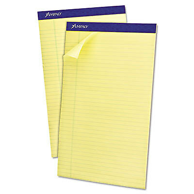 Recycled Writing Pads, 8 1/2 x 14, Canary, 50 Sheets, Dozen 20-280