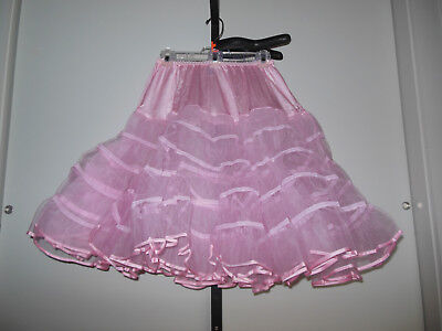 Vintage Malco Modes Double Layer Very Full Pink Petticoat Size M New