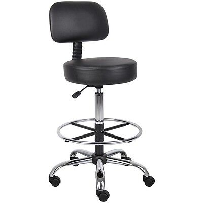 Medical Exam Stool Back Lab Stools Chair Adjustable Drafting Rolling Office