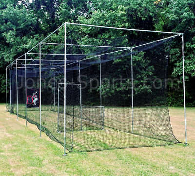 Batting Cage Net #24-42ply w/ 70' Frame Kit Baseball Softball Practice Netting