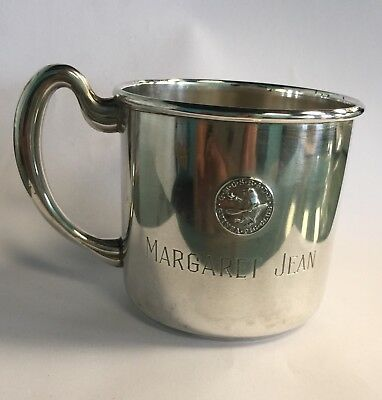 Antique Guinea Pig Club Sterling Silver Cup M.Fred Hirsch Co. c.1945