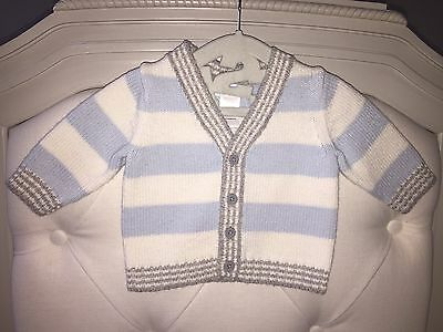 Janie and Jack Light Blue baby boy Sweater 0-3 monthes